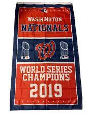 2019 World Series Champions Washington Nationals Mlb Flag 3x5 Vertical Banner