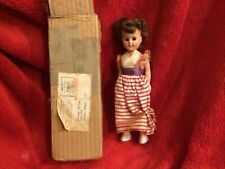 Antique Little Debbie Doll In Red Dress