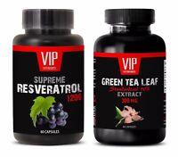 Antioxidant vitamins - GREEN TEA EXTRACT – RESVERATROL COMBO - green tea powder