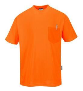 Portwest Non ANSI Pocket Short Sleeve T-Shirt Orange S578 Case of 5