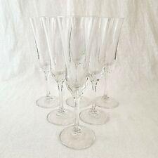 Champagne Flutes Set of Six Polaris Cristalleria Di Castello Italian Crystal
