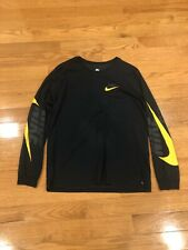 Nike Sb Skateboard Black Long Sleeve Shirt Xl Stretch