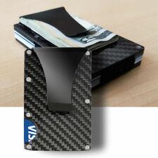 Slim Bank Debit Card Holder Money Clip Business Wallet Purse Carbon Fibe