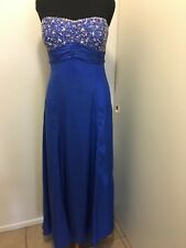 Royal Blue Metallic Wow! Prom & Pageant Dress Size 20 Sequined Bodice Strapless