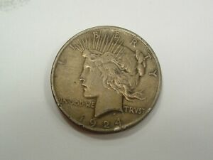 HUGE MORGAN & PEACE SILVER DOLLAR COLLECTION 1924 WITH PATINA LOT #37