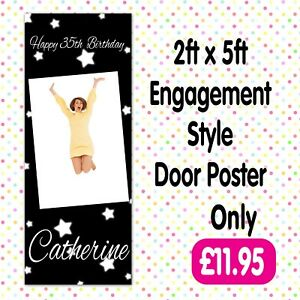 PERSONALISED PHOTO BIRTHDAY PARTY DOOR BANNERS ANY AGE, ANY NAME,ANY EVENT A002