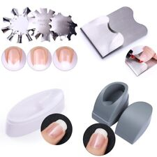 Easy Nail Edge Cutter French Line Nail Art Guid Stencil Trimmer  Tools