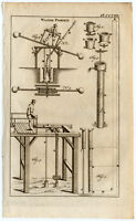 Antique Print-WATER PUMP-MECHANICAL-Buys-1770