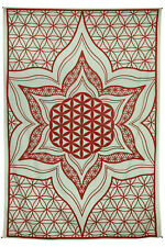Flower Of Life Tapestry Table Cloth Wall Art Curtain Sacred Geometry 52x80