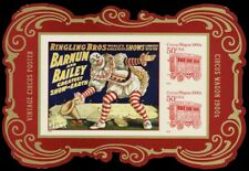 4905c RARE Die Cut Version Circus Souvenir Sheet - P.O. SOLD OUT - Stuart Katz