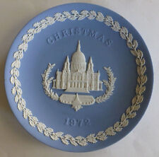 "Vintage Wedgwood Pale Blue Jasper 8"" Plate Christmas 1972 St. Paul'S Cathedral"