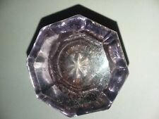 Antique 8 point light purple crystal door knob