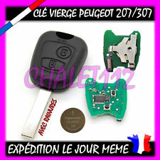 Clé+électronique+pile Peugeot 207 307 308