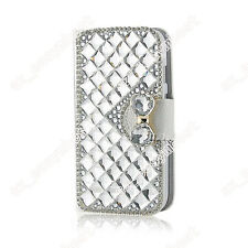 Wallet Bling Case Diamond Rhinestone Leather Stand Luxury Fit Cover For Phones