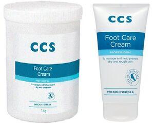 CCS Foot Care Cream Intense Moisturising Professional Extra Care Tub / Tube