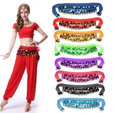 8 Colours Belly Dance Hip Scarf Wrap Belt Skirt Bead Gold Coin Dancing UK