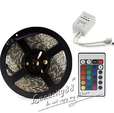 5M 5050 SMD Lamp RGB 150Leds Waterproof Flexible Led Strip Light + 24Key Remote