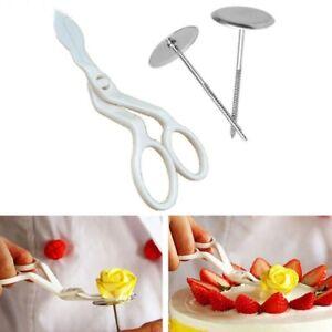 Cake Decorating Tools 3Pcs Piping Flower Scissors+Nail Icing Bake Cupcake Pastry