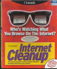 ONTRACK INTERNET CLEANUP FOR WINDOWS/NETSCAPE & AOL + FREE BOOK NEW/SEALED