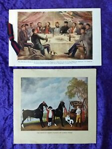 X2 Queen Elizabeth II Royal Household signed Christmas cards