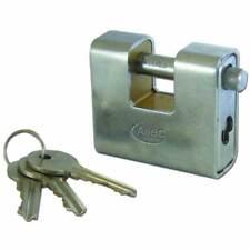 ASEC Steel Sliding Shackle 60 mm Commercial Shutter & Chain Padlock with 3 Keys