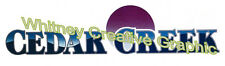 Cedar Creek  RV LOGO Graphic decal lettering vinyl sticker