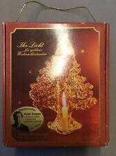 Bleikristall Baum Kerzenhalter Glaskünstler Odenwald Handarbeit P. Kaspar Kerze