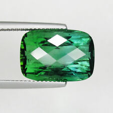 14.90 ct RARE BLUE GREEN NATURAL TOURMALINE - Checker Cut Cushion - See Vdo 5201