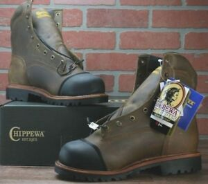 """Chippewa Mens 8"""" Waterproof Composite Toe Insulated Work Boots 25377 - 8.5 E"""