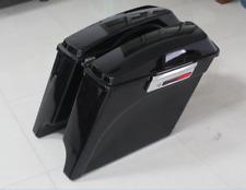"5"" Extended Stretched Hard SaddleBag fit For Harley Touring Electra Street Glide"