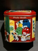 M&M's 2004 Tin Box Chrstmas Village Canister PHOTO BOOTH  Container Canister