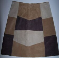 WOMEN SUEDE SKIRT LIMITED TOO Size  3JR Multi-Color  NEW