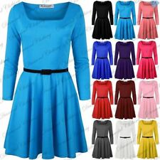 Polyester Square Neck 3/4 Sleeve Plus Size Dresses for Women