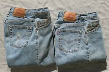 Vintage Levi's jeans 520 Special Reserve 28 x 31 (2) pair MADE IN U.S.A. 5 pockt