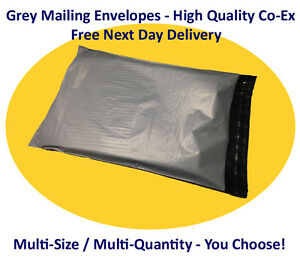 Grey Co-Ex Mailing Postal Courier Bags, Opaque - REDUCED!