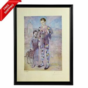 Pablo Picasso -Two Saltimbanques with a Dog, Original Hand Signed Print with COA