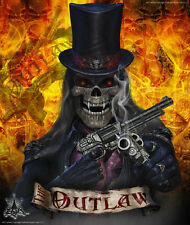 "HONDA 1998-1999 CR125 1997-1999 CR250 GRAPHICS WRAP DECALS ""THE OUTLAW"" BLACK"