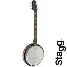 NEW Stagg BJM30-G 6 String 30 Bracket Deluxe Bluegrass Banjo with Metal Pot