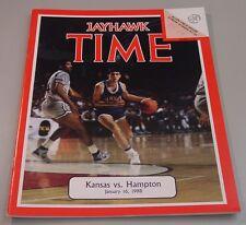 KU Jayhawk Basketball Program - Hampton Jan 16, 1988