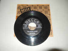 DICK KALLMAN two different worlds / love is a dangerous game   DECCA   45