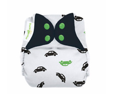NIP bumGenius Freetime All-In-One One-Size Cloth Diaper GO Car Print 8-35 Pounds