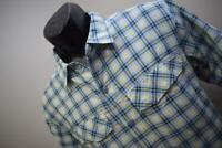 30059 Mens Columbia Omni-Shade Performance Plaid Vented Fishing Shirt Sz Medium