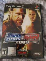 WWE SmackDown vs. Raw 2009 Featuring ECW (Sony PlayStation 2, 2008) CIB, GH