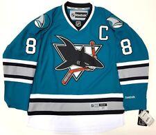 41ae230d JOE PAVELSKI SAN JOSE SHARKS 25TH ANNIVERSARY REEBOK NHL PREMIER JERSEY NEW