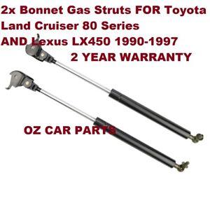 Bonnet Hood Struts For Toyota Land Cruiser 80 Series 1990-1997 BONNET LIFTER X2