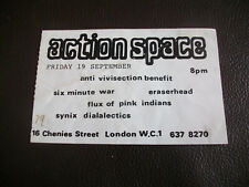 More details for original 1980 anarcho punk gig ticket six minute war flux of pink indians sinyx