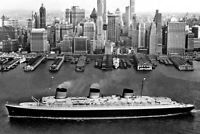 New 5x7 Photo: SS Normandie, French Ocean Liner Passenger Ship in New York