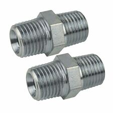 """3/8"""" BSP Male to Male Air Line Hose Compressor Fitting Union 2 PACK FT048"""