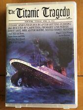The Titanic Tragedy Audiobook Cassette 1987 EUC