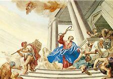 Alte Kunstpostkarte - Martin Knoller - Austreibung der Händler aus dem Tempel